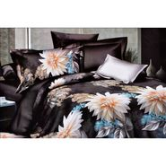4D Printed  Double Bed Sheet With 2 Pillow Cover- M-017