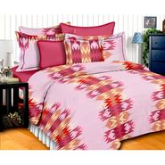 Storyathome Cotton Pink 1 Double Bedsheet With 2 Pillow Cover-MG1401