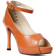 Meriggiare Synthetic Leather Tan Heels -Mgfh4001D