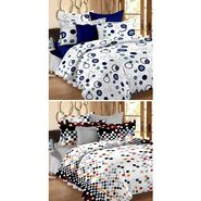 Set Of 2 Double Bedsheet With 4 Pillow Cover-1229-1431
