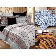 Valtellina Set of 3 Double Bedsheet With 6 Pillow Cover.-MO-128