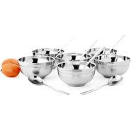 Mosaic 12Pcs Soup Bowl Set - Silver