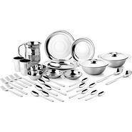 Mosaic Special 57Pcs Dinner Set  - Silver