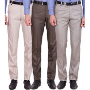 Tiger Grid Pack Of 3 Cotton Formal Trouser For Men_Md048