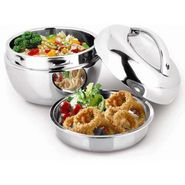 Mosaic 1 Ltr Steel Hot Pot Casserole - Silver