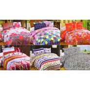 Set of 6 Multicolor Poly Cotton Double Bedsheet with 12 Pillow Covers -NLD-14-01_02_03_05_06_08