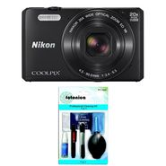 Combo of Nikon Coolpix S7000 16MP Point Shoot Digital Camera with 20x Optical Zoom - Black + Fotonica FT-1009 7-in-1 Cleaning Kit