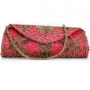Oleva Silk Clutches hi74_Pink