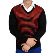 Branded Regular Fit Cotton Sweater_Os02 - Maroon