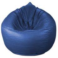 PSYGN Leatherette Sofa Bean Bag Cover -  PBB306-BLUE-XXXL
