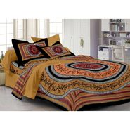 Storyathome 100% Cotton Double Bedsheet With 2 Pillow Cover-PL1116