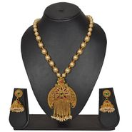 Pourni Stylish Necklace Set_Prnk156 - Golden