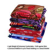 Pack of 5 Designer Printed Double Fleece Blanket-CA_1207