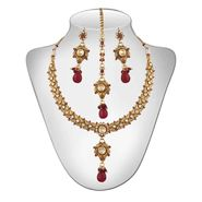 Panini Traditional Necklace Set - Multicolour _ 64