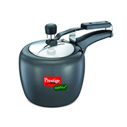 Prestige HA Apple Duo Plus Pressure Cooker 3 Ltr - Black