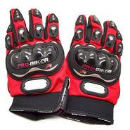 Pro Biker Gloves Full - Red