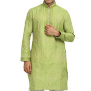 Runako Regular Fit Printed Party Wear Kurta Pajama For Men_RK4071 - Green
