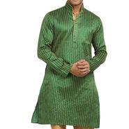 Runako Regular Fit Printed Party Wear Kurta Pyjama For Men_RK4092 - Green