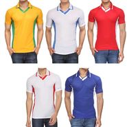 Pack of 5 Rico Sordi Half Sleeves Plain Tshirts_RSD764
