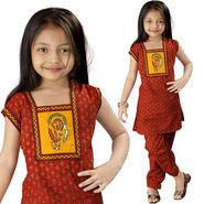 Little India Rajasthani Bagru Designer Cotton Salwar Suit - DLI3GED109C