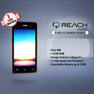 Reach 10.16 cm 3G Android Mobile