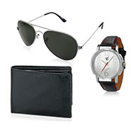 Combo of Rico Sordi Analog Wrist Watch + Sunglasses + Wallet_12398219