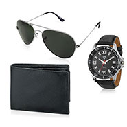 Combo of Rico Sordi Analog Wrist Watch + Sunglasses + Wallet_12398220