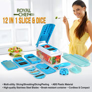Royal Chef 12 in 1 Slice & Dice - Blue