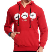 Brohood Blended Cotton Casual Sweatshirt For Men_SKH33023 - Red