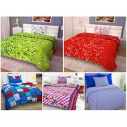 Set of 5 100% Cotton 5 Single Bedsheet With 5 Pillow Cover