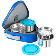 NanoNine Stainless Steel 3 Pcs Midday Meal Pack-Blue_SS168