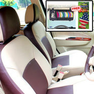 Samsun Car Seat Cover for Maruti Suzuki Alto  - Beige & Brown