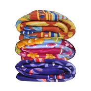 Set of 3 Grj India Fleece Designer Printed Blankets-GRJ-FBLN-set3