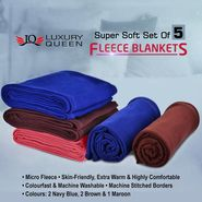 Set of 5 Fleece Blankets