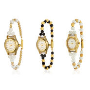 Set of 3 Oleva Pearl Wrist Watch