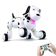 Smart Interactive RC Robo Dog - Black & White