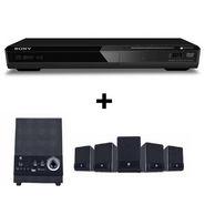Combo of Sony DVP-SR370 DVD Player + iBall Dhwani 5.1 Multimedia Speaker - Black
