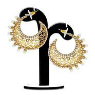Spargz Filigiree Design Sun Light Earrings - White _AIER309