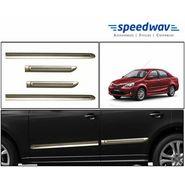 Speedwav Custom Fit Car Side Beading GOLDEN & Chrome -Toyota Etios