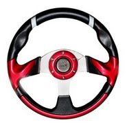 Sporty and Stylish Car Steering Wheel - Red