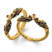 Sukkhi Amazing Peacock Gold Plated Kada - Golden - 12034KGLDPV1500