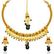 Sukkhi Fashionable Gold Plated Necklace Set - Golden - 2110NGLDPL1650