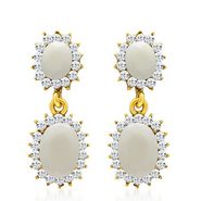 Sukkhi Creative Gold Plated Earrings - White - 6034ECHV250