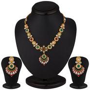 Sukkhi Marvellous Gold Plated CZ Necklace Set