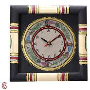 Hand Painted Worli Style Wood Wall Clock-TC1322