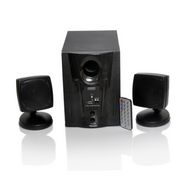 TECH-FI 2.1 TF-2200UF Multimedia Speaker with FM, USB and Remote Control - Black