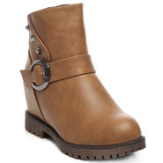 Ten Leather Tan Women Boot -tn07