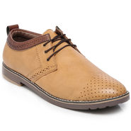 Ten Beige Leather Casual Shoes -mtj23