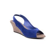 Ten Suade Leather 290 Women's Heel Sandals - Blue