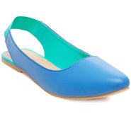 Synthetic Leather Blue Womens Bellies -ts02